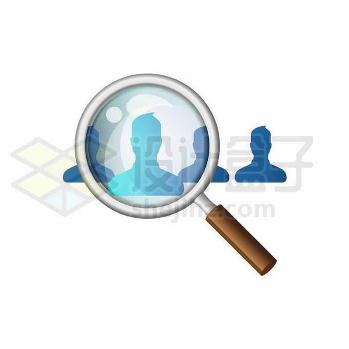 放大镜正在找人象征了猎头人力资源公司招聘人才5150553矢量图片免抠素材免费下载