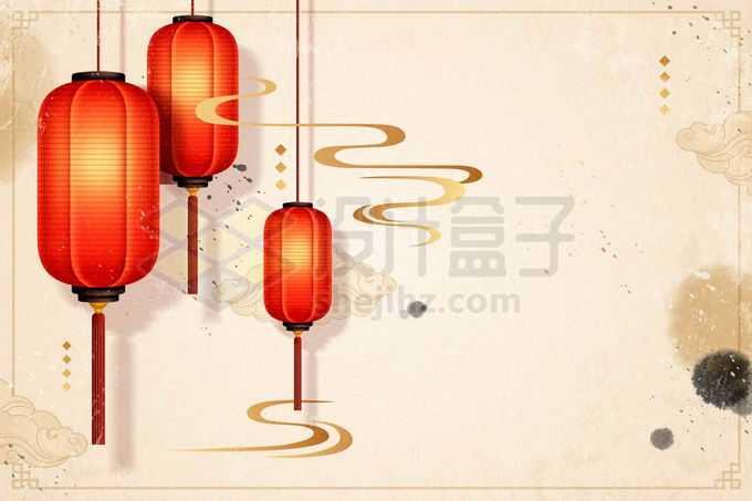 大红灯笼高高挂新年春节背景7523281矢量图片免抠素材免费下载