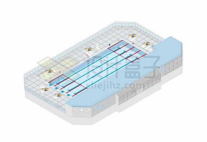 2.5D风格游泳池奥运会场地7112672矢量图片免抠素材免费下载
