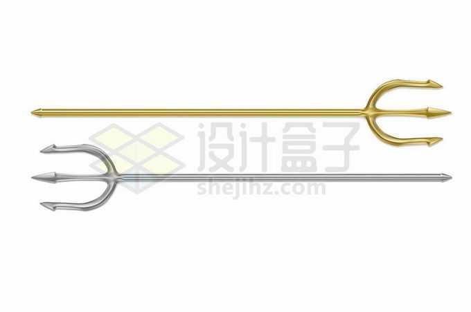 2款金色和银色三叉戟3655674矢量图片免抠素材免费下载