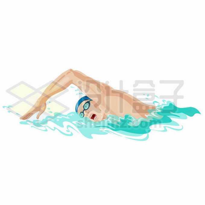 奥运会游泳健将正在水中奋力拼搏2672694矢量图片免抠素材免费下载