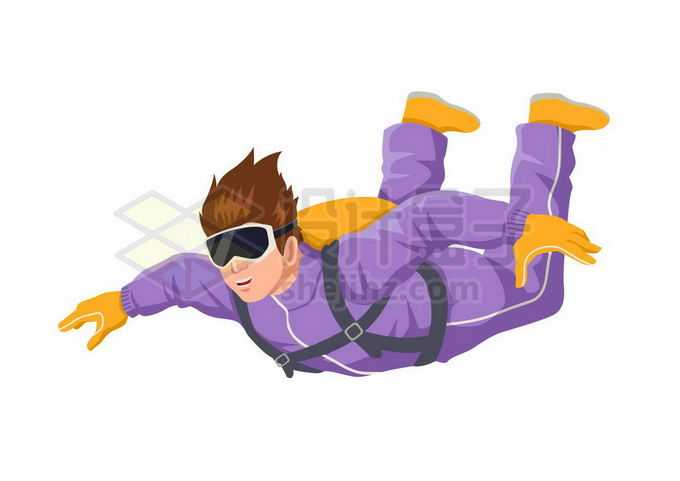 高空跳伞张开双臂的极限运动员8067237矢量图片免抠素材免费下载