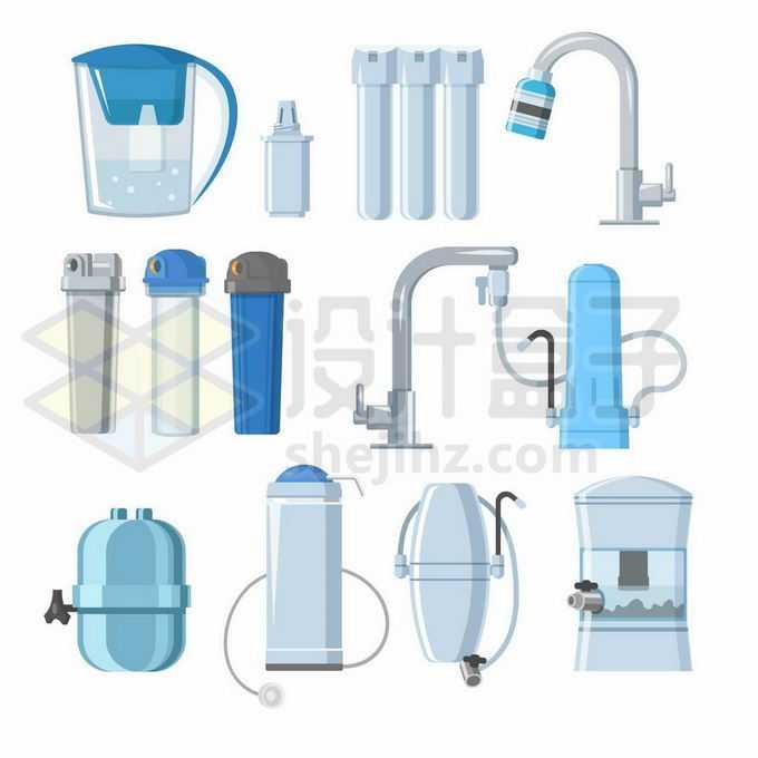 各种家用净水器直饮机滤水器等健康饮水工具3561946矢量图片免抠素材免费下载
