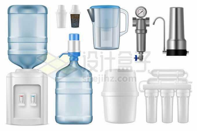 饮水机纯净水桶吸水器直饮机滤水器等健康饮水4538259矢量图片免抠素材免费下载