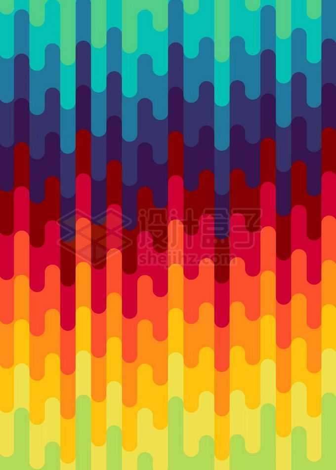 扁平化抽象彩色色块组成的背景图免抠图片素材