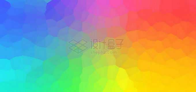 渐变色彩色多边形不规则形状背景图免抠图片素材