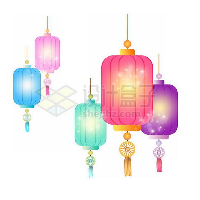 各种彩色灯笼喜庆装饰免抠图片素材