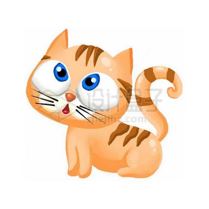 超可爱的卡通猫咪老虎免抠图片素材