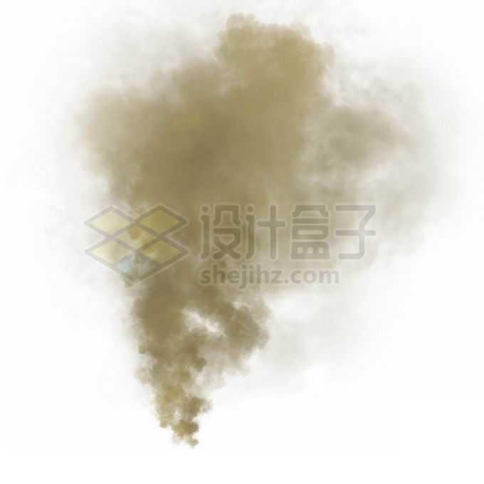 黄褐色的烟雾烟尘效果免抠图片素材