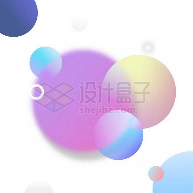 渐变色圆球组成的装饰免抠图片素材
