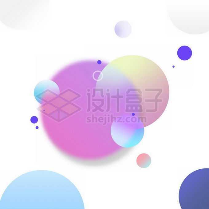 各种渐变色圆形组成的装饰图案免抠图片素材