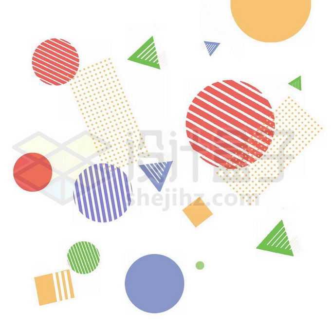 孟菲斯风格圆点不规则形状点阵图装饰9557976图片素材下载