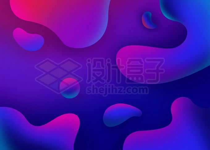 抽象紫色渐变色水滴形状背景图8377128图片素材下载
