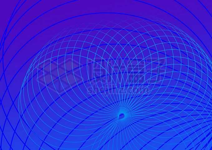 抽象蓝色线条组成的曲线背景图3689479图片素材下载