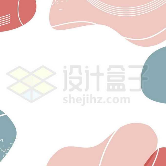 不规则形状和线条孟菲斯风格边框装饰7536347图片素材下载