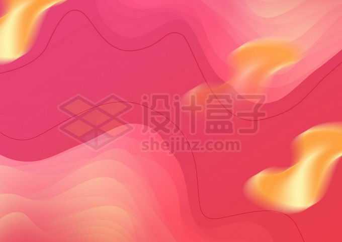 扭曲的抽象曲线图案红色背景图4464997图片素材下载