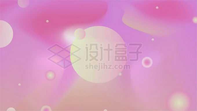 黄色小球装饰模糊粉红色背景图3794043图片素材下载