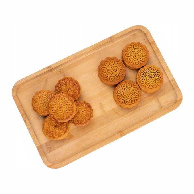 砧板上摆放整齐的月饼中秋节美食6038069png免抠图片素材