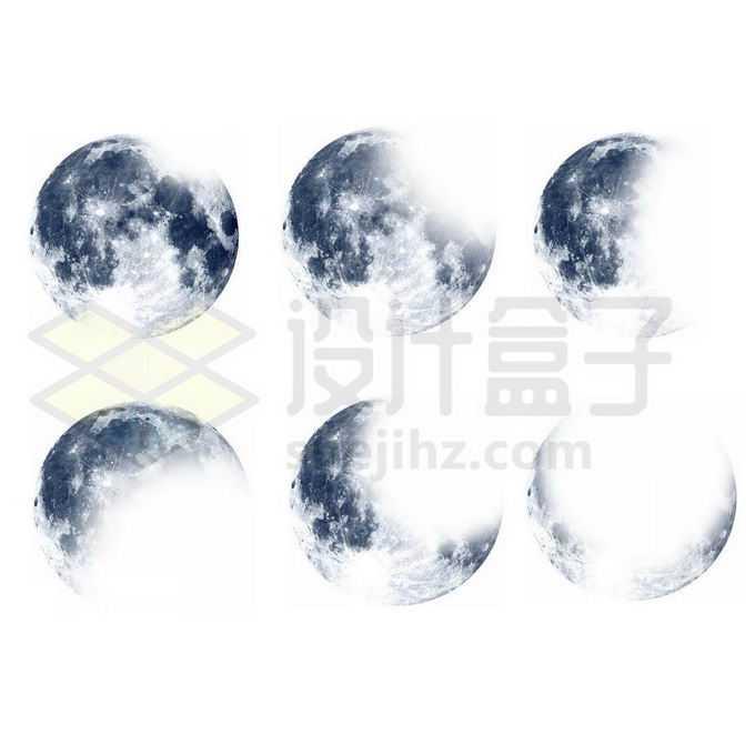 6款灰色的月球表面6657709图片素材下载