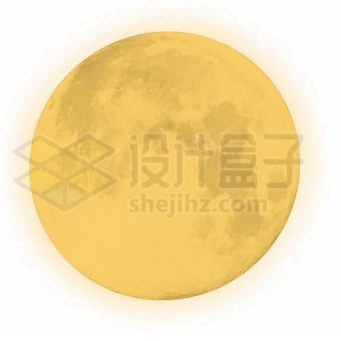 中秋节大大的黄色月亮表面细节可见8451504图片素材下载