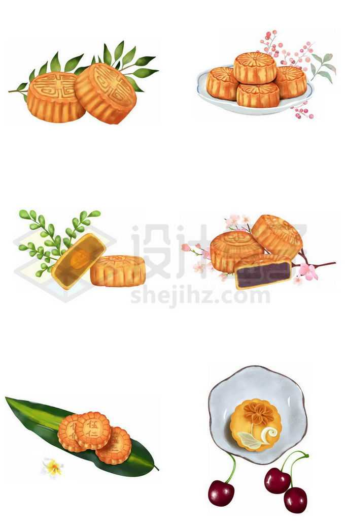 6款中秋节月饼美味传统美食5382460图片素材下载