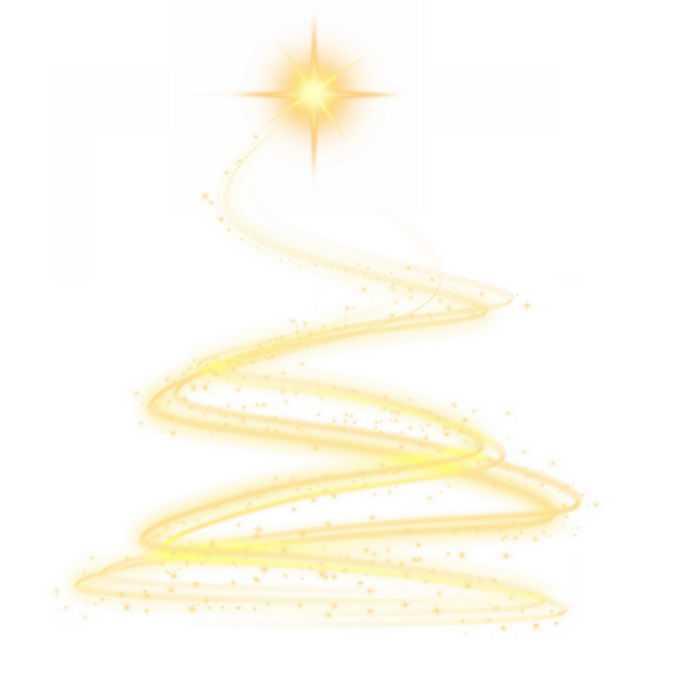 金黄色光芒组成的圣诞树效果6020194图片素材