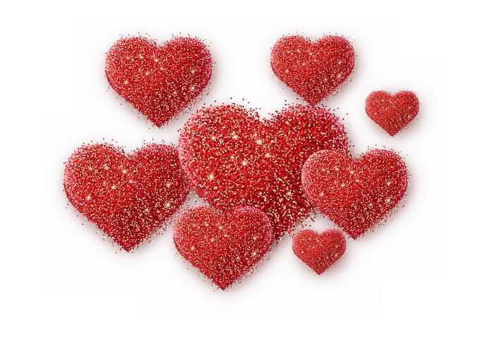 情人节闪闪发光的金粉红色心形2499448图片素材