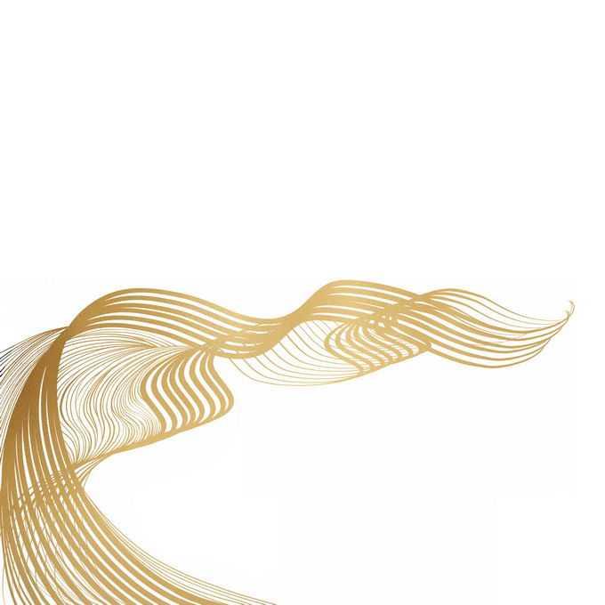 金色线性线条波浪线组成的抽象装饰图案2023150图片素材