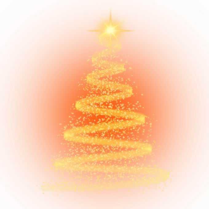 金黄色发光光点组成的圣诞节圣诞树效果3665416图片素材