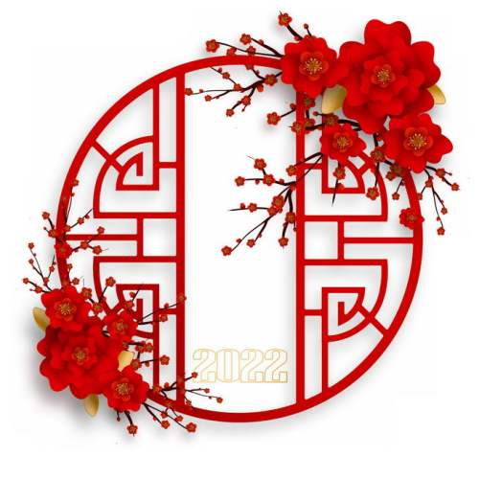 中国风红色窗格和梅花装饰新年春节元素5567947图片素材