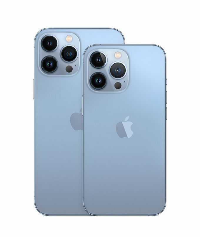蓝色iPhone 13 pro max苹果手机背面6546733png免抠图片素材