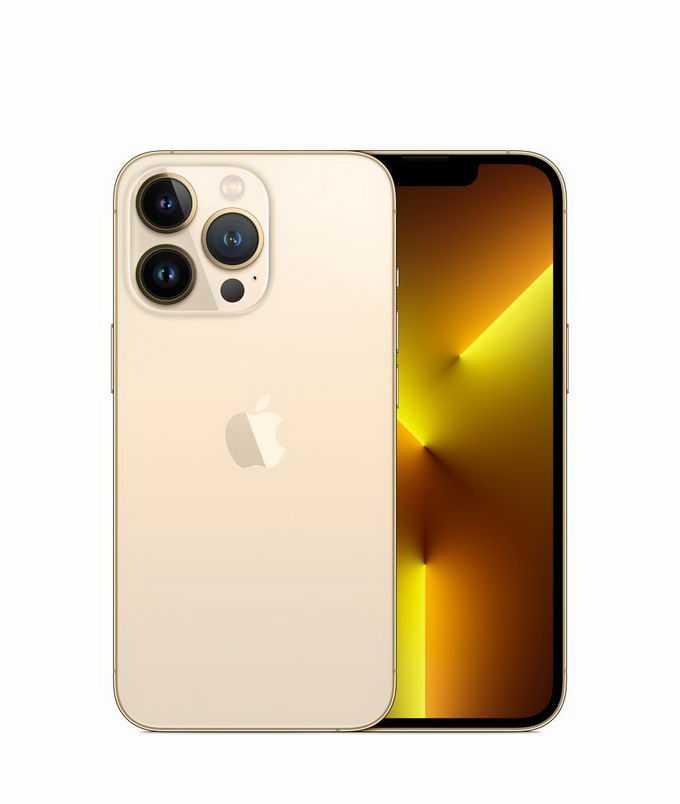 金色iPhone 13 pro max苹果手机正反面5862146png免抠图片素材