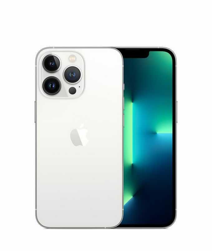 银色iPhone 13 pro max苹果手机正反面1724725png免抠图片素材