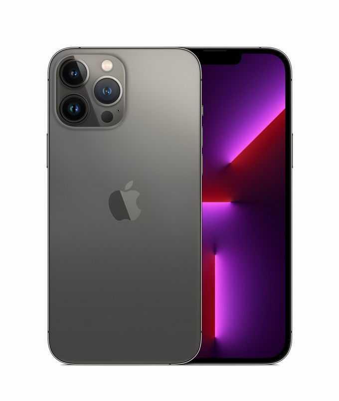 石墨色黑色iPhone 13 pro max苹果手机正反面8530746png免抠图片素材