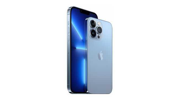远峰蓝色iPhone 13 pro max苹果手机正反面9075274png免抠图片素材