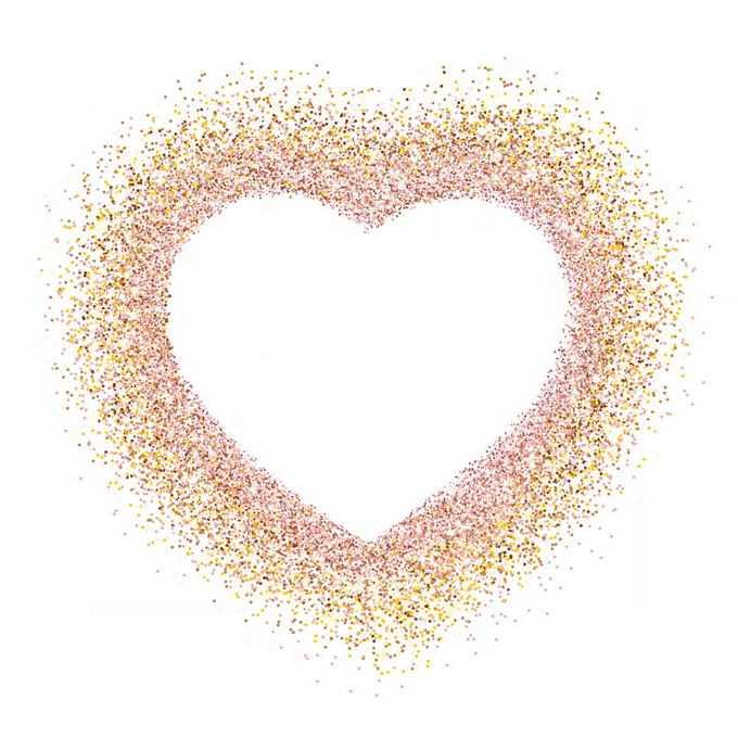 金色小圆点组成的空心心形图案9038950图片素材