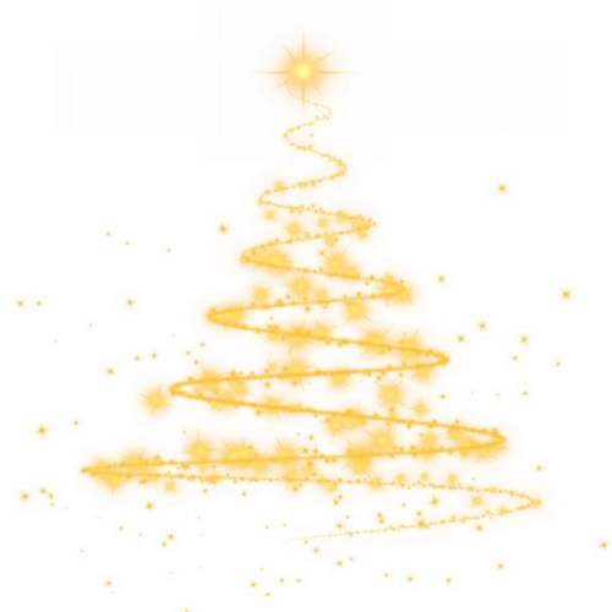 金色线条和发光圆点组成的抽象圣诞树效果2714605图片素材