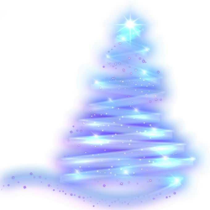 蓝紫色发光线条和圆点组成的抽象圣诞树效果8095136图片素材
