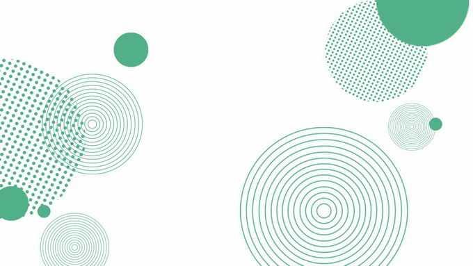 绿色同心圆点阵圆形等孟菲斯风格装饰图案4721123图片素材