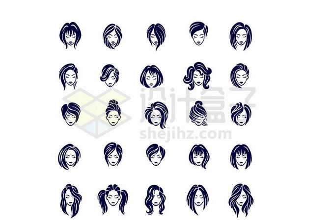 各种发型美发头像图案6580250向量图片素材