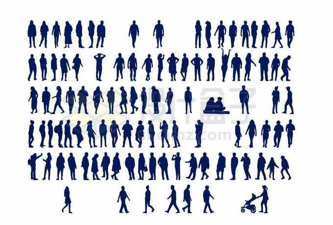 各种各样的男人女人人物剪影合集7015826向量图片素材