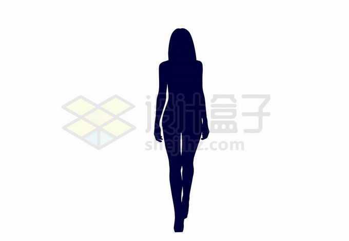 身材好的女人女模特走猫步人物剪影7247855向量图片素材