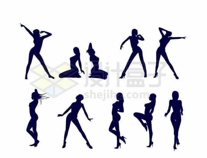 各种性感身材的女人人物剪影7354019向量图片素材