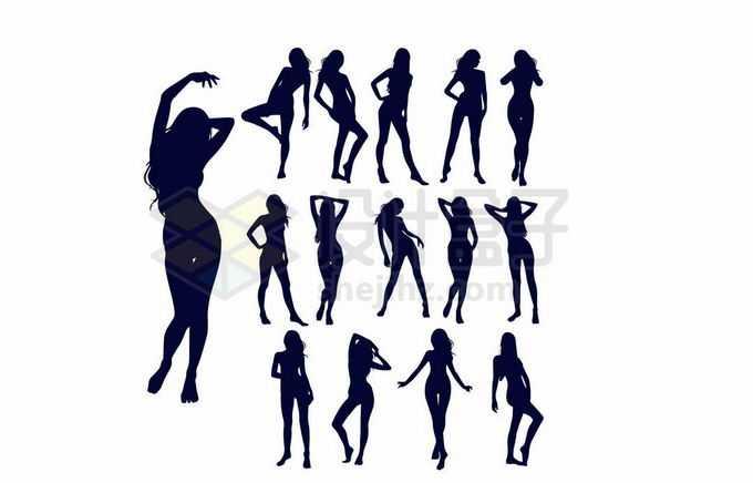 各种性感身材的女人人物剪影1724014向量图片素材