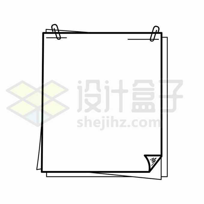 手绘风格黑色线条记事本贴纸边框文本框4885724向量图片素材