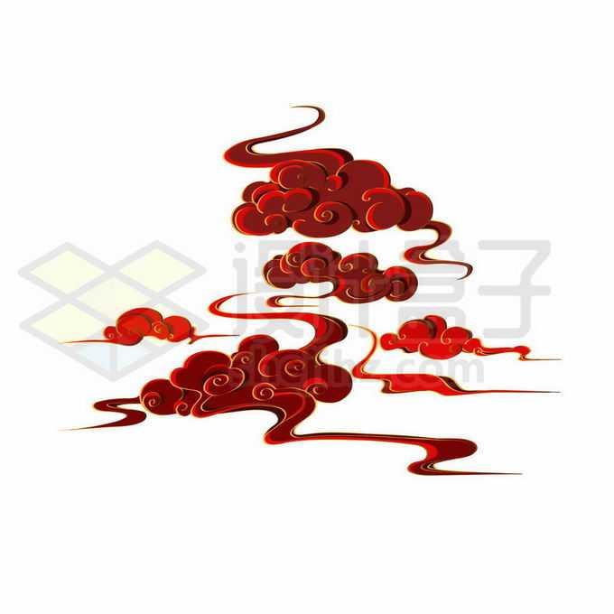 中国风格红色祥云图案7470886向量图片素材