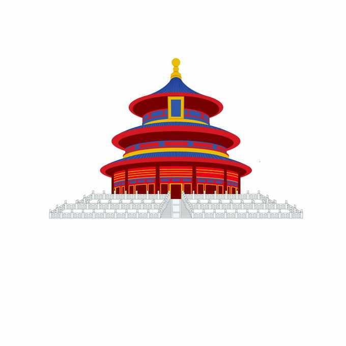 天坛中国传统建筑插画2969934矢量图片免抠素材免费下载