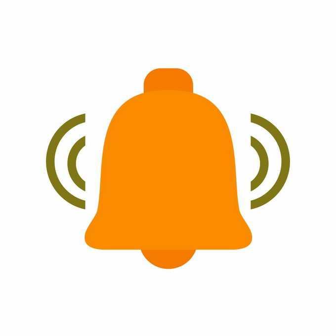 橙色的铃铛图标信息提醒图案1549065矢量图片免抠素材免费下载
