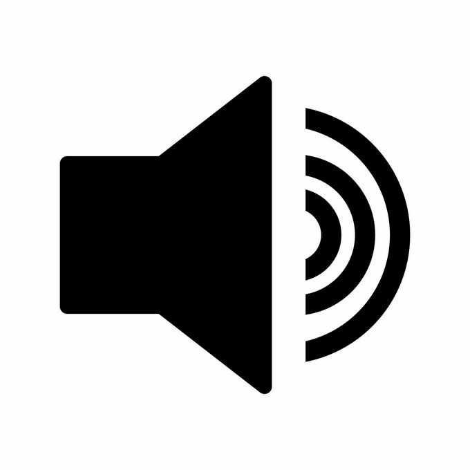 一款黑色的电脑声音图标2263671矢量图片免抠素材免费下载