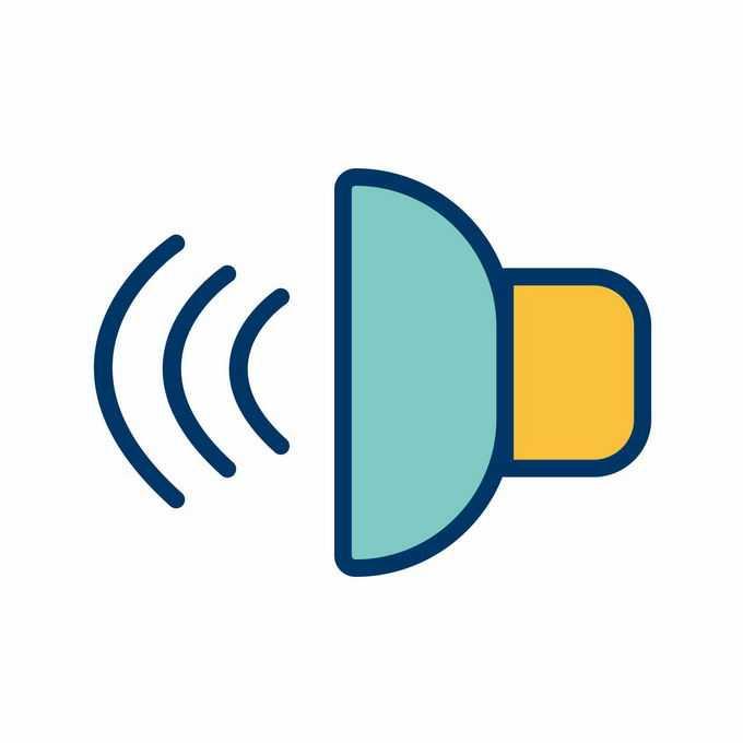 卡通彩色声音图标2288205矢量图片免抠素材免费下载